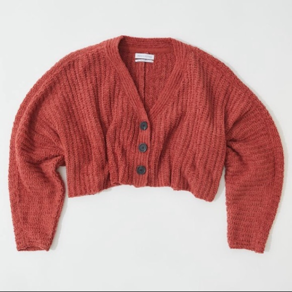 UO Crop Knitted Cardigan
